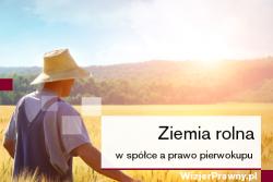 Ziemia rolna w spółce prawo pierwokupu i wykupu